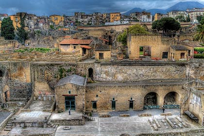 The Roman cities buried by Vesuvius