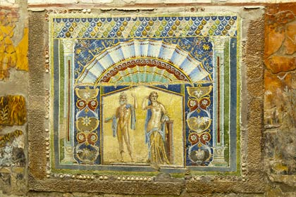 The mosaics at Herculaneum