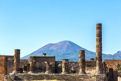 The towering heights of Vesuvius