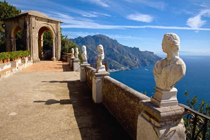 Ravello's terraces overlooking the sea